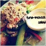 friskog lækker salat med tunmousse
